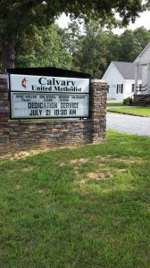 Calvary UMC Dedication