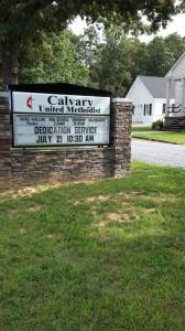 Calvary UMC Dedication